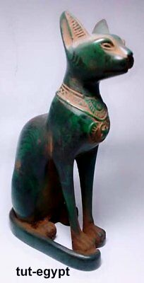 RARE ANCIENT EGYPTIAN ANTIQUE BASTET Cat Ubaste Statue Stone 1190-1110 BC
