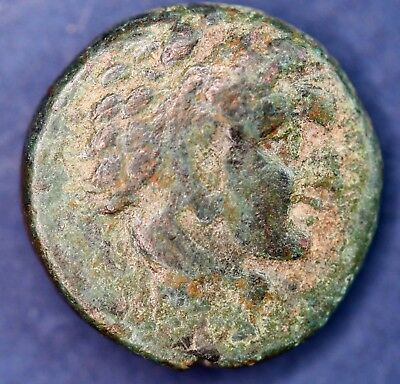 Ancient Greek AE bronze coin. 12mm, uncleaned *[14594]