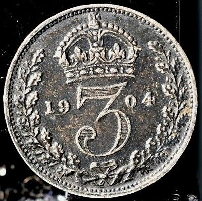 1904 Great Britain 3 Pence - XF+