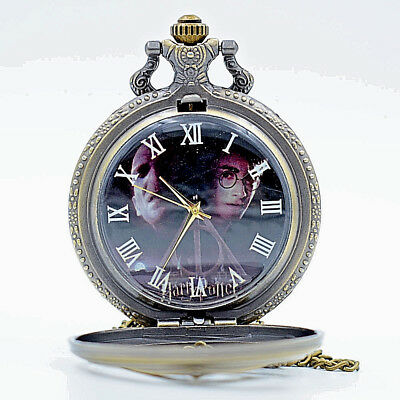 Harry Potter Pocket Watch Magic Fantasy Hogworts Film Book Lord Voldemort Old UK