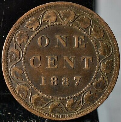 1887 Canada One Cent KM#7 - VF