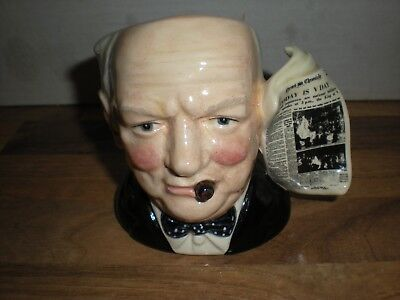 Royal Doulton  SMALL  character jug - WINSTON CHURCHILL D6934 - VICTORY ISSUE