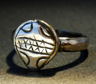 A RARE GENUINE NORMAN Æ SHIELD RING - wearable - UK find