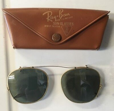 Vintage Ray-Ban Bausch & Lomb Clip On 1950s Rare Sunglasses