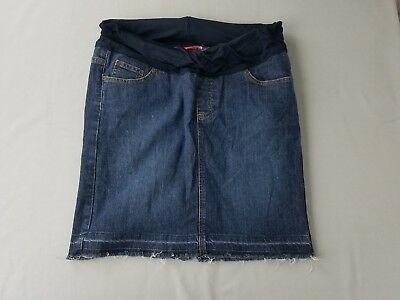 Liz Lange Maternity, Denim Blue Jean Skirt, Dark, Medium, M P1