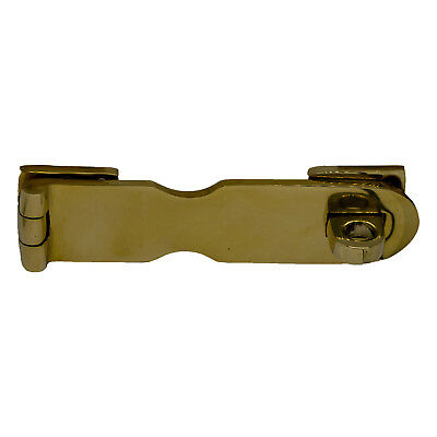 Polished Brass Heavy Duty Hasp 5 Inch Safety Lock Home Or Marine Hardware
