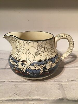 Vintage Old Royal Doulton Jug Viking Ships