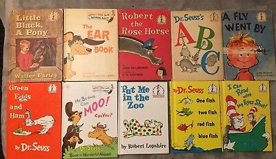 Lot of 38 Childrens Dr. Seuss Beginner Books Hardcover Hop on Pop The Lorax