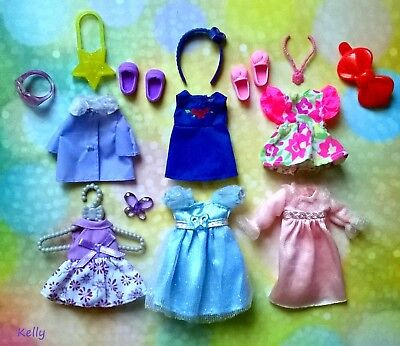Lot Of Barbie Kelly Doll Clothes Accessories Plus Shoes B