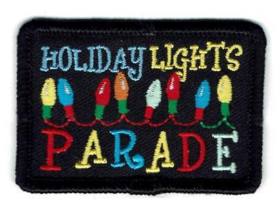 GIRL BOY CUB HOLIDAY LIGHTS PARADE Xmas Show Patches Crests Badges SCOUT  GUIDE