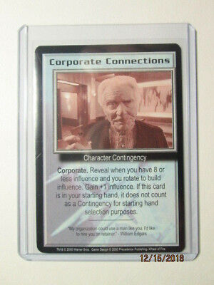 2000 Babylon 5 Ccg - Wheel Of Fire - Rare - Corporate Connections