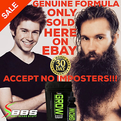 GROW MAX XXL Beard & Mustache Accelerator - #1 FACIAL HAIR GROWTH OIL WORLDWIDE!