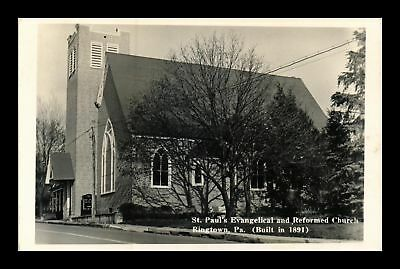 Dr Jim Stamps Us St Paul Evangelical Reformed Church Ringtown Postcard