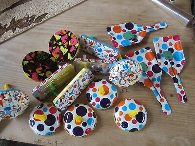 Lot of  Tin Litho Noisemakers  New Years Eve  15 pieces NEW Old Stock