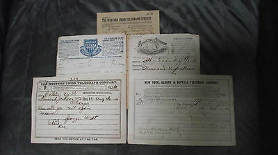 1862-80 Townsend & Jackson Co. 5 Telegram Albany N.Y. Major Charles Townsend