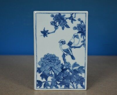 Fine Antique Chinese Blue And White Porcelain Paper Weight Rare S7498