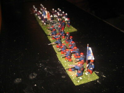 43 Painted 1/72 - RARE Early WWI French Line & Marine Infantry w Artillery !!