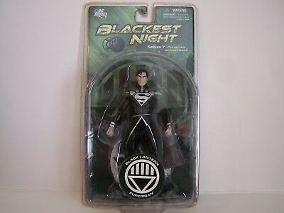 "DC Direct Blackest Night Black Lantern "" Superman "" Series 7 Action Figure."