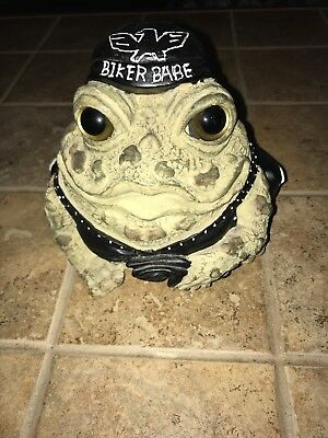 Toad Hallow Cycle Works Biker Babe Collectible Frog Figurine Only