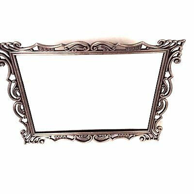 Longaberger Pewter Framed Mirror 9 x 11 HANG ON WALL OR STAND UP ON TABLE New