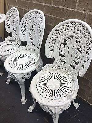 Vintage Wrought Iron Chairs And Table