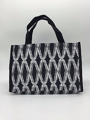 Thirty one all in Organizer mini tote hand bag in black link purse 31 retired b