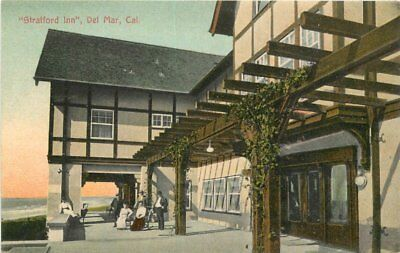 C-1910 Del Mar California San Diego Strattford Inn Postcard South Coast 12768