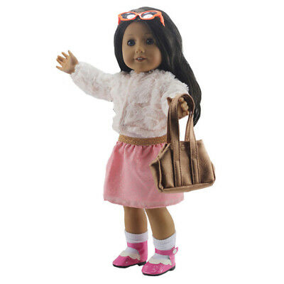 Doll Clothes Vest Bag For 18 Inch Girl Doll Accessories Cloth Elegant Handmade