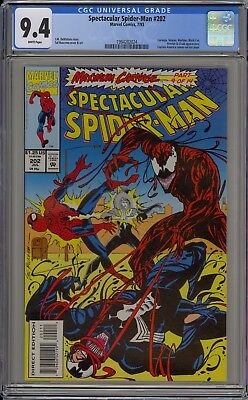 Spectacular Spider-Man #202 (1993) CGC 9.4 ~ WHITE pages ~ Carnage and Venom App