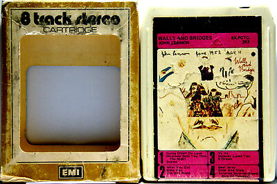 JOHN LENNON Walls & Bridges Aussie Pressing 8 TRACK TAPE  CARTRIDGE