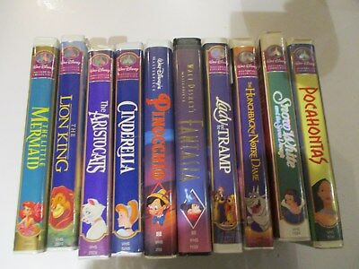 Lot of10 Walt Disney VHS Masterpiece Collection Movies