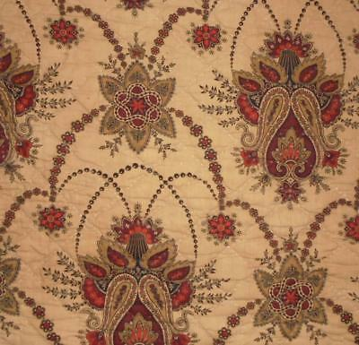 BEAUTIFUL 19th CENTURY FRENCH QILTED MADDER INDIENNE c1840s/50s, 149.