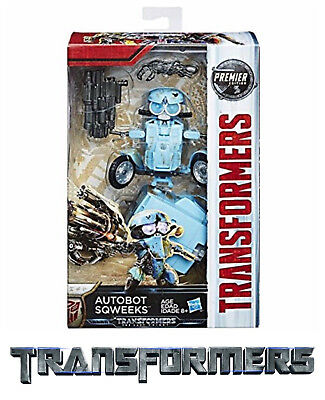 NEW Premier Deluxe Transformers SQWEEKS Autobot The Last Knight