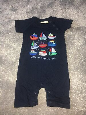 Jojo Maman Bebe Boys 12-18months Nautical Romper Worn Once