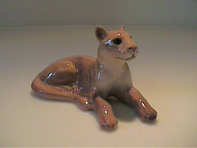 Vintage 1997 Miniature Hagen Renaker Lying Mountain Lion