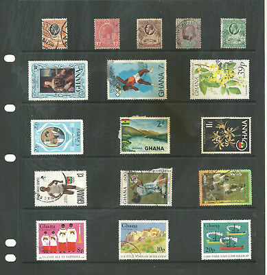 Commonwealth Gold coast /Ghana   one stock sheet mix collection stamps