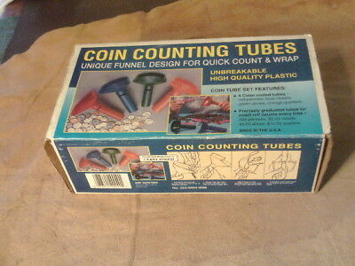 Coin Counting Tubes,Plastic,MMF INDUSTRIES 2240004-00M NIB