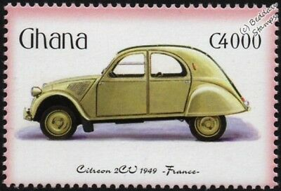 1949 CITROEN 2CV / 2-CV Mint Automobile Car Stamp (2001 Ghana)
