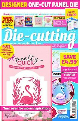 Die Cutting Essentials Magazine Issue 46 with Pretty Quick Papercut Swan Die