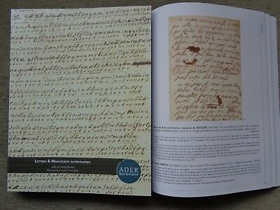"Superbe Catalogue De Vente "" Lettres & Manuscrits Autographes "" 768 Lots . Top!!"