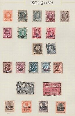 BELGIUM Collection Early Issues Great Postmarks USED MH as per scan #