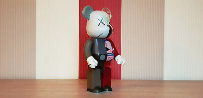 Bearbrick 400% Kaws Companion OriginalFake Dissected Red