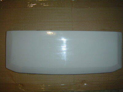 """M toilet WALL ? tank lid cover top #7 18"""" stamped antique WHITE 21 x 7.5"""