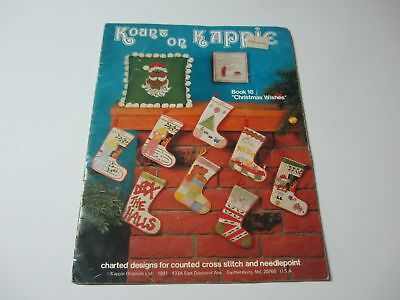Kount on Kappie - Christmas Wishes Pamphlet Cross Stitch stockings pillows #18