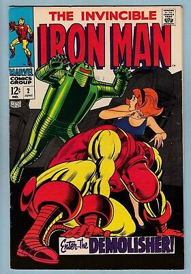 IRON MAN # 2 FN+ (6.5)  1st JANICE CORD APP. - GLOSSY HIGHER GRADE US CENTS COPY