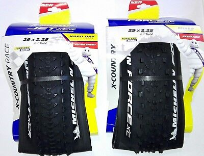 "2x1 Cubiertas Michelin Force XC 29""x2.25 - Jet XC 29""x2.25 Tubeless Ready"