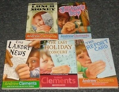 Andrew Clements LOT OF 5 Children's Softcover Chapter Books