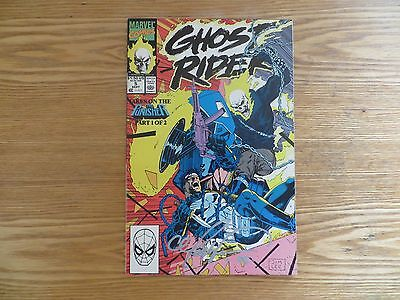 1990 Marvel Ghost Rider # 5 Punisher Signed By Mark 'tex' Texeira Art, With Poa