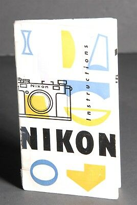 Nikon S Rangefinder Camera Instruction Manual w/ 1952 Inspection Certificate