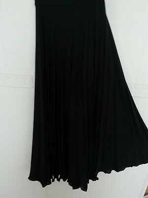 Vintage Black Maxi 10 Sunray Pleated Skirt great condition
